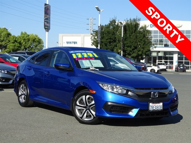 certified pre owned 2016 honda civic lx 4d sedan in pittsburg 4343a winter honda. Black Bedroom Furniture Sets. Home Design Ideas